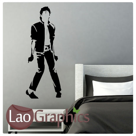 Michael Jackson Jacko Celebrity Legend Wall Stickers Home Decor Art Decals-LaoGraphics