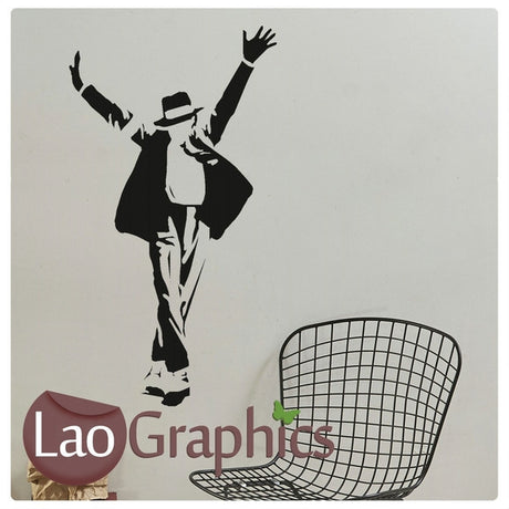 Michael Jackson MJ Celebrity Legend Wall Stickers Home Decor Art Decals-LaoGraphics