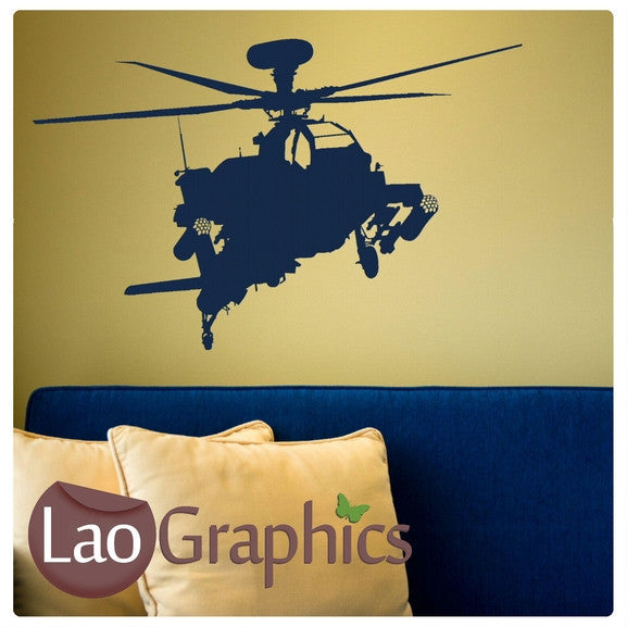 Military Helicopter Military & Army Wall Stickers Home Decor Art ...