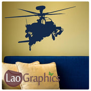 Military Helicopter Military & Army Wall Stickers Home Decor Art Decals-LaoGraphics