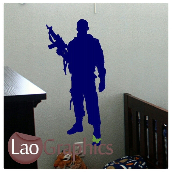 Military Soldier Military & Army Wall Stickers Home Decor Art Decals-LaoGraphics