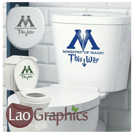 Ministry of Magic Bathroom Toilet Stickers Home Decor Art Decals-LaoGraphics