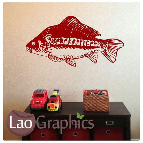 Mirror Carp Boys Aquatic Wall Stickers Home Decor Art Decals-LaoGraphics