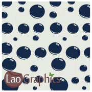 Modern Bubbles Vinyl Transfer Wall Stickers Home Decor Art Decals-LaoGraphics