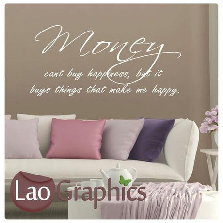 Money Quote Inspiring Quote Wall Stickers Home Decor Art Decals-LaoGraphics