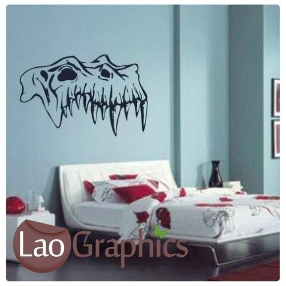 monster skull boys bedroom wall sticker home decor dinosaur art