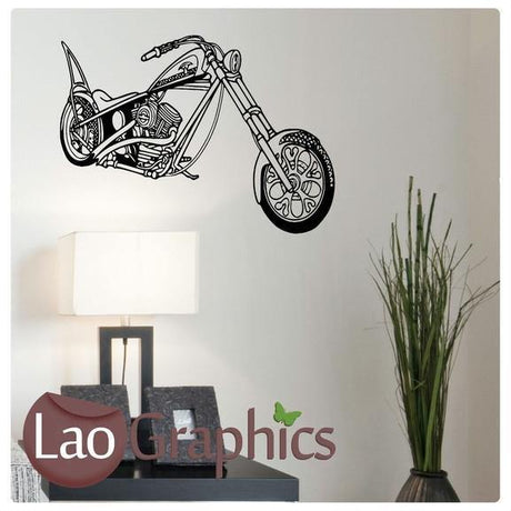 Motorbike Vehicle & Transport Wall Stickers Home Decor Art Decals-LaoGraphics
