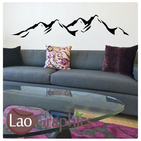 Mountains Vinyl Transfer Wall Stickers Home Decor Art Decals-LaoGraphics