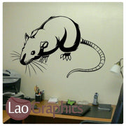 Mouse Mouse Door Home Decor Skirting Wall Stickers Art Decals-LaoGraphics