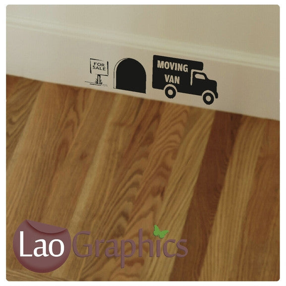 Moving Home Mouse Set Mouse Door Home Decor Skirting Wall Stickers Art Decals-LaoGraphics