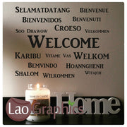 Multi Language Welcome Wall Sticker Quote Wall Stickers Home Decor Art Decals-LaoGraphics