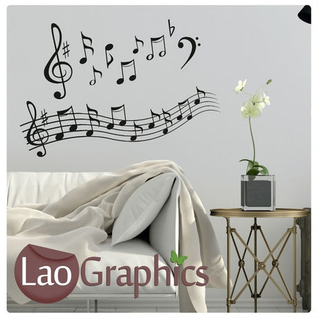 Music Notes #2 Musical Wall Stickers Home Decor Music Art Decals-LaoGraphics