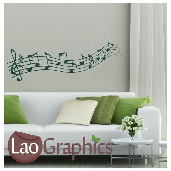 Music Notes Musical Wall Stickers Home Decor Music Art Decals-LaoGraphics