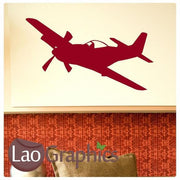 Mustang Plane Military & Army Wall Stickers Home Decor Art Decals-LaoGraphics