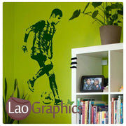 Neymar Famous Footballer Wall Stickers Home Decor Art Decals-LaoGraphics