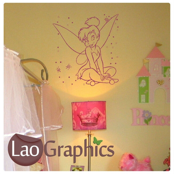 Nice Tinkerbell Wall Stickers Home Decor Art Decals-LaoGraphics