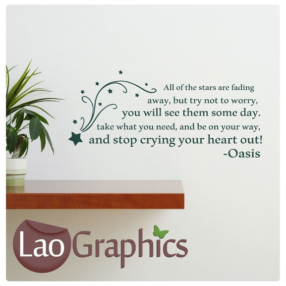 Oasis - Stop Crying Your Heart Out Wall Sticker Home Decor Art Decals-LaoGraphics