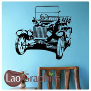 Old Fashioned Car Vehicle Transport Wall Stickers Home Decor Art Decals-LaoGraphics