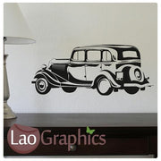 Old Style Car Vehicle Transport Wall Stickers Home Decor Art Decals-LaoGraphics