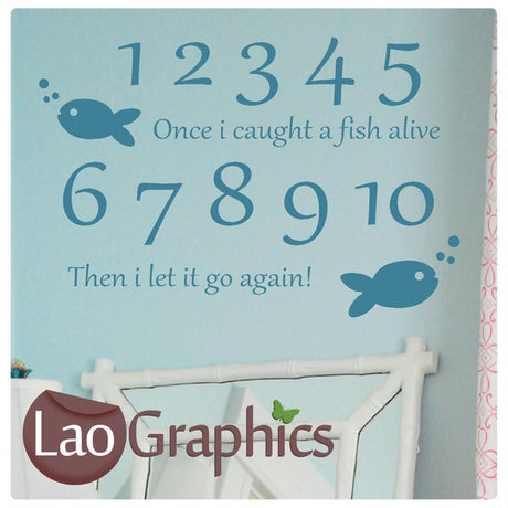 Once i Caught a Fish Alive Wall Stickers Home Decor Art Decals-LaoGraphics