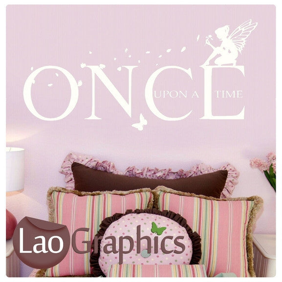 Once Upon a Time Fairytale Quote Home Decor Art Decals-LaoGraphics