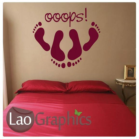 Oops Bedroom Quote Interior Bedroom Wall Stickers Home Decor Art Decals-LaoGraphics