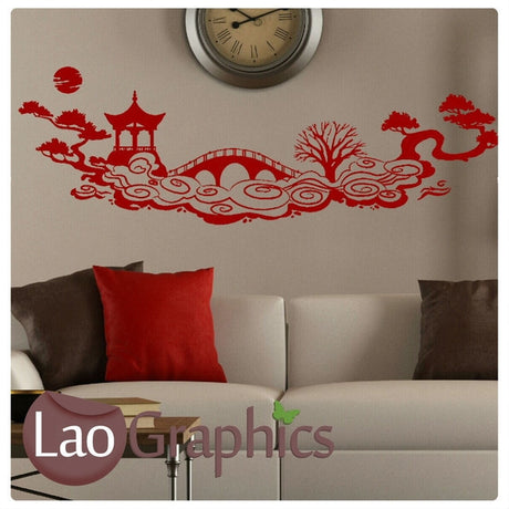 Oriental Scene Asian Korean Wall Stickers Home Decor Art Decals-LaoGraphics