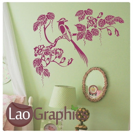 Oriental Style Tree Branch Asian Korean Wall Stickers Home Decor Art Decals-LaoGraphics