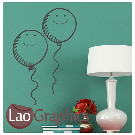 Pair of Balloons Wall Stickers Home Decor Art Decals-LaoGraphics