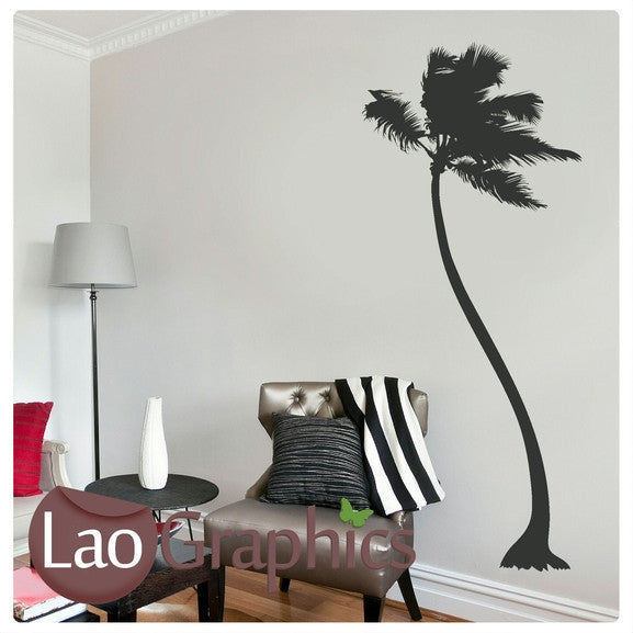 Palm Tree Nature Wall Stickers Home Decor Large Tree Art Decals-LaoGraphics
