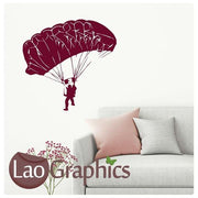 Parachute Man Vinyl Transfer Wall Stickers Home Decor Art Decals-LaoGraphics