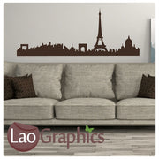 Paris Skyline City Scape Wall Stickers Home Decor Art Decals-LaoGraphics