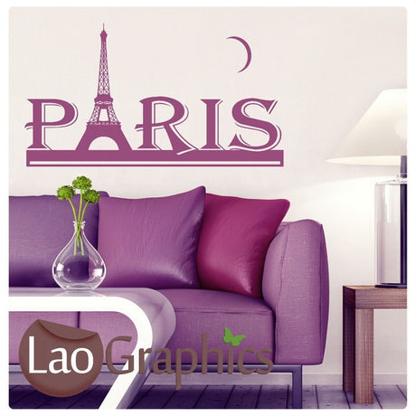 Paris Skyline Wall Sticker #2 Home Decor Art Decals-LaoGraphics