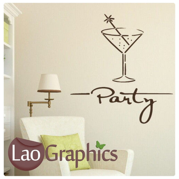 party vinyl transfer wall stickers home decor art decals | laographics