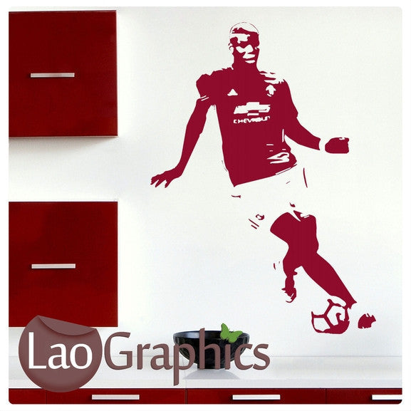 Paul Pogba Famous Footballer Wall Stickers Home Decor Art Decals-LaoGraphics