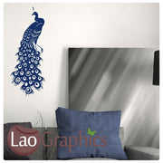 Peacock Wall Sticker Home Decor Art Decals-LaoGraphics
