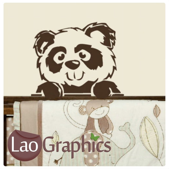 Peeping Teddybear Wall Stickers Home Decor Art Decals | LaoGraphics