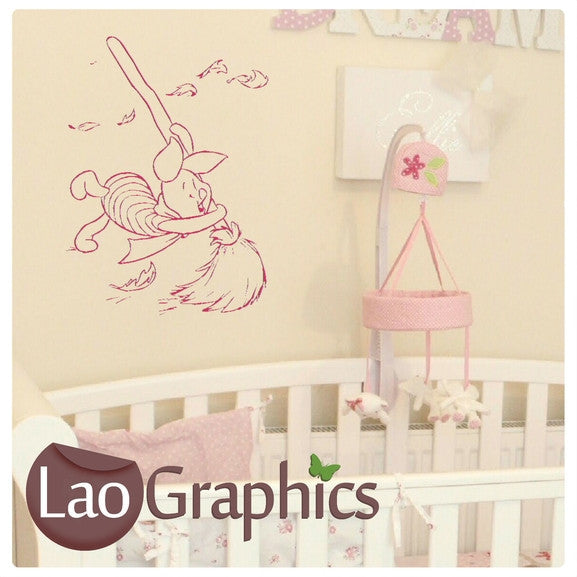 Piglet (Winnie the Pooh) Wall Stickers Home Decor Art Decals-LaoGraphics