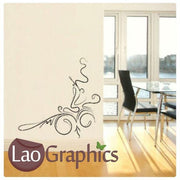 Pinstripe Corner Large Modern Wall Stickers Home Decor Art Decals-LaoGraphics