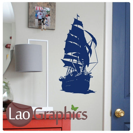 Pirate Ship / Boat Boats & Sailing Wall Stickers Home Decor Art Decals-LaoGraphics