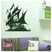 Pirate Ship Boats & Sailing Wall Stickers Home Decor Art Decals-LaoGraphics