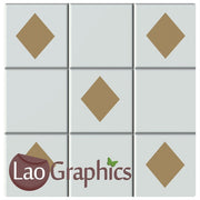 Plain Diamond Kitchen / Bathroom Tile Transfers Home Decor Art Decals-LaoGraphics