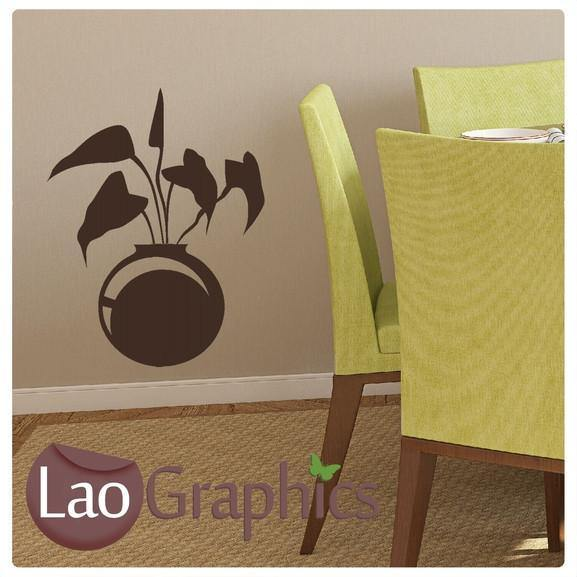 Plant Pot Modern Interior Wall Stickers Home Decor Art Decals-LaoGraphics