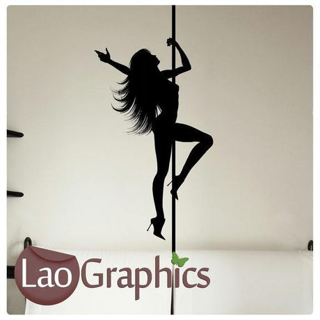 Pole Dancer / Dancing Vinyl Transfer Wall Stickers Home Decor Art Decals-LaoGraphics