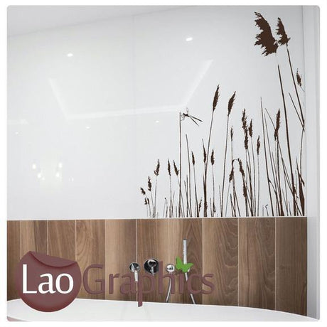 Pond Reeds Modern Interior Wall Stickers Home Decor Art Decals-LaoGraphics