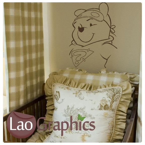 Pooh Bear (Winnie the Poo) Wall Stickers Home Decor Art Decals-LaoGraphics