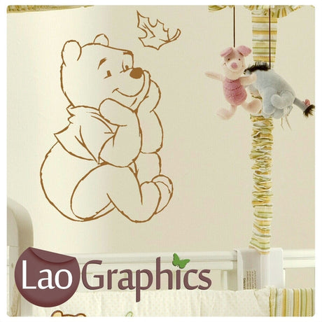 Pooh Bear (Winnie) Wall Stickers Home Decor Art Decals-LaoGraphics