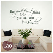 Prettiest Thing You Can Wear Inspiring Quote Wall Stickers Home Decor Art Decals-LaoGraphics