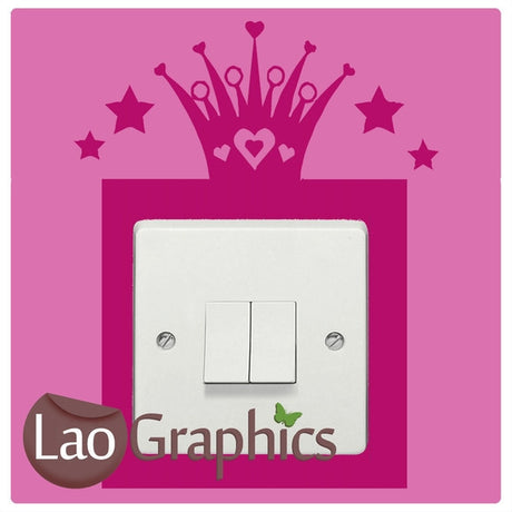 Princess Crown Light Switch Light Switch Art Decals Home Decor Cute Wall Stickers-LaoGraphics