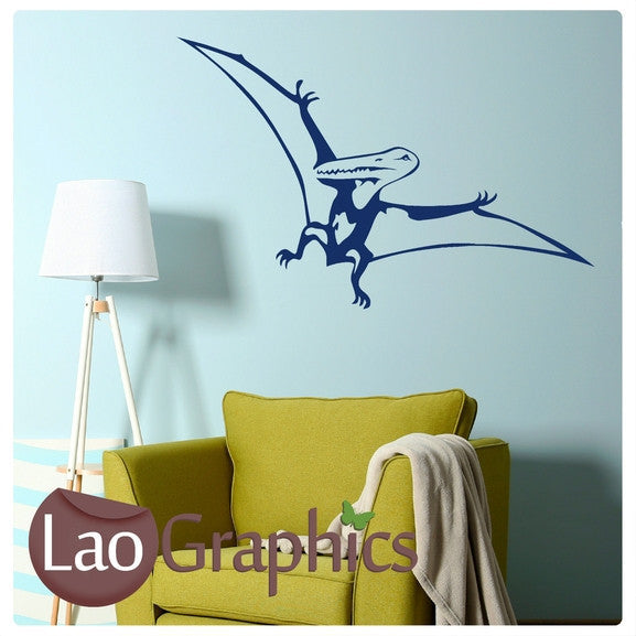 Pteradactyl Dinosaur Boys Bedroom Wall Stickers Home Decor Art Decals-LaoGraphics